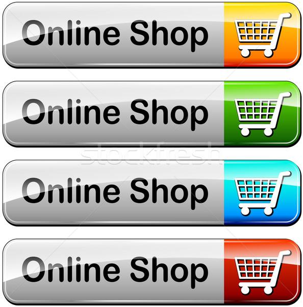 online shop buttons Stock photo © nickylarson974