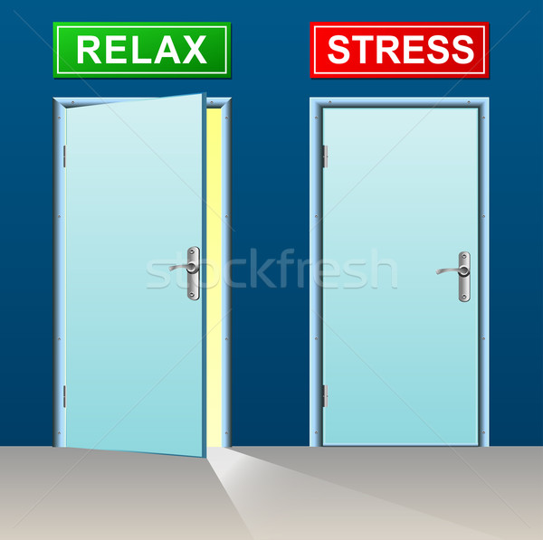 relax and stress doors concept Stock photo © nickylarson974