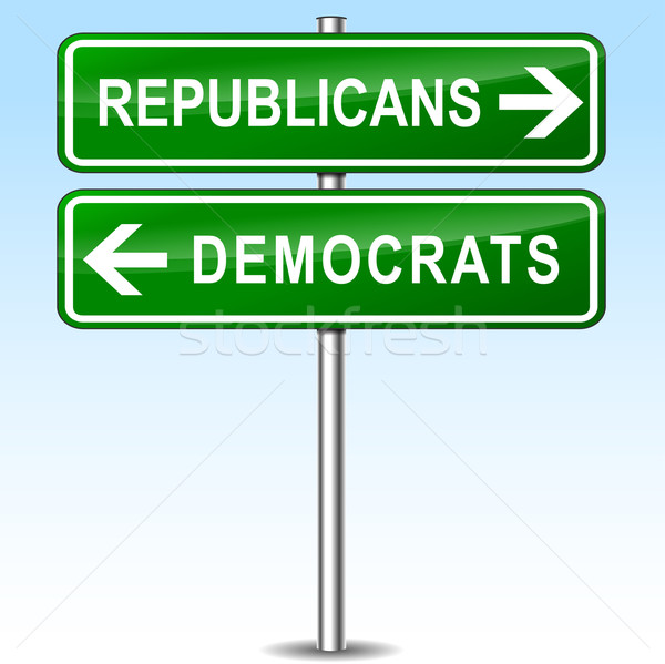 republicans and democrats directions Stock photo © nickylarson974