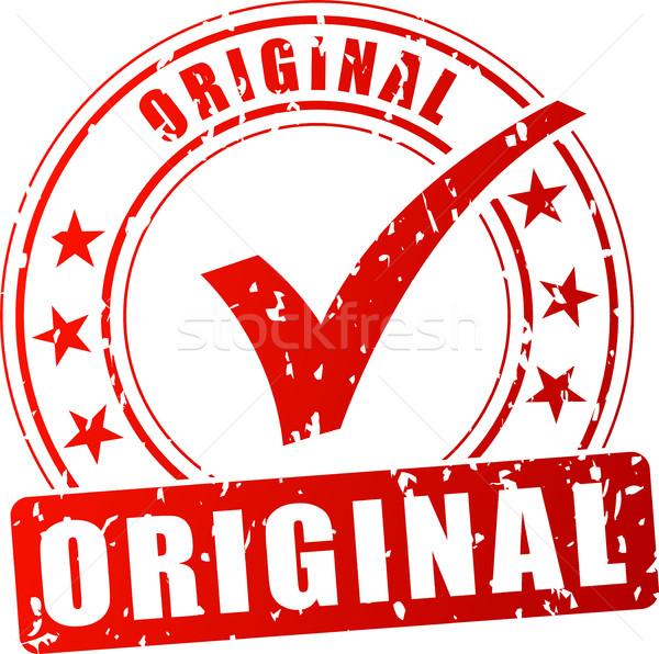 Original rojo sello ilustración blanco negocios Foto stock © nickylarson974
