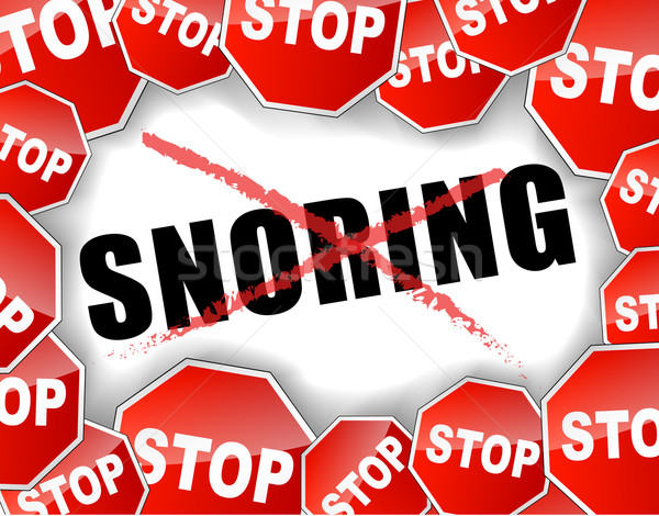 Stop snoring Stock photo © nickylarson974