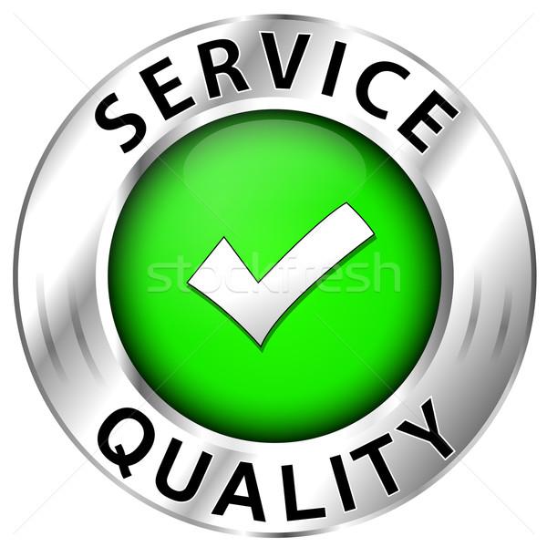 Quality of  service icon on white background Stock photo © nickylarson974