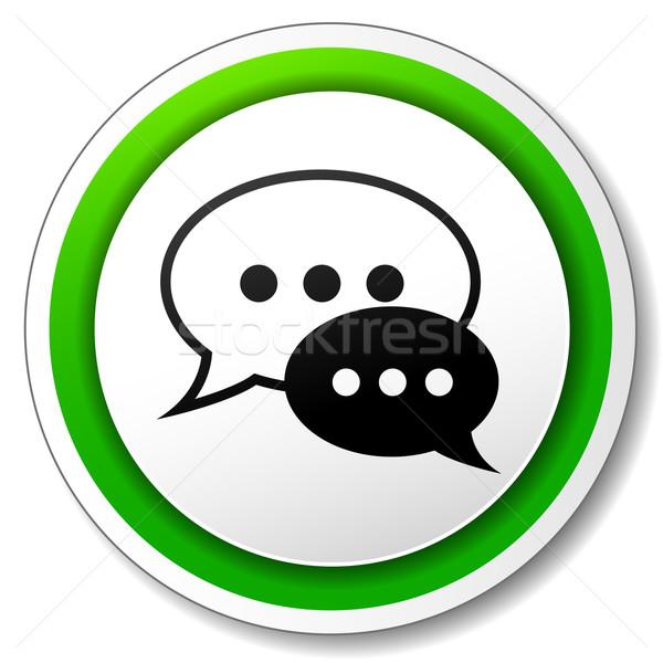 Vector chat round icon Stock photo © nickylarson974