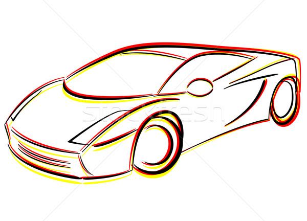 Vector drawing car Stock photo © nickylarson974