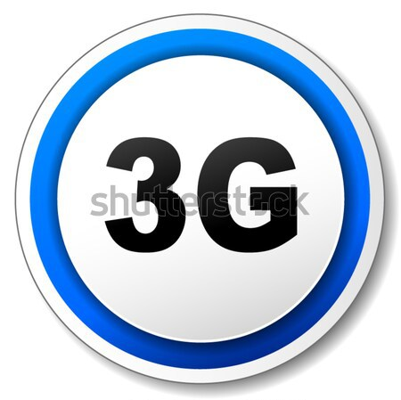 Vector 3g icon zwarte Blauw internet Stockfoto © nickylarson974