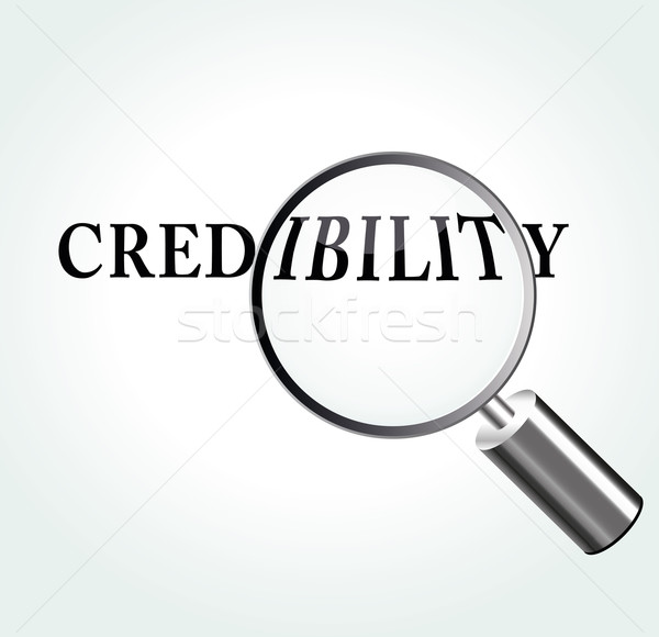 Vector credibility theme illustration Stock photo © nickylarson974