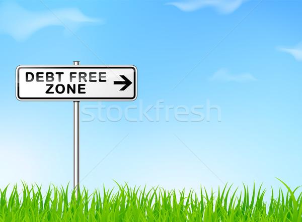 debt free zone sign Stock photo © nickylarson974