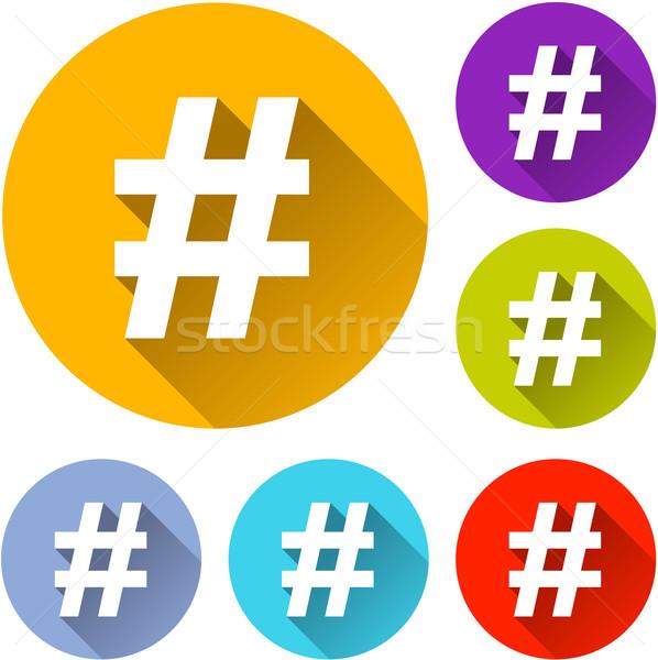 hashtag icons Stock photo © nickylarson974