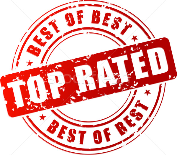 Vector top rated stamp Stock photo © nickylarson974