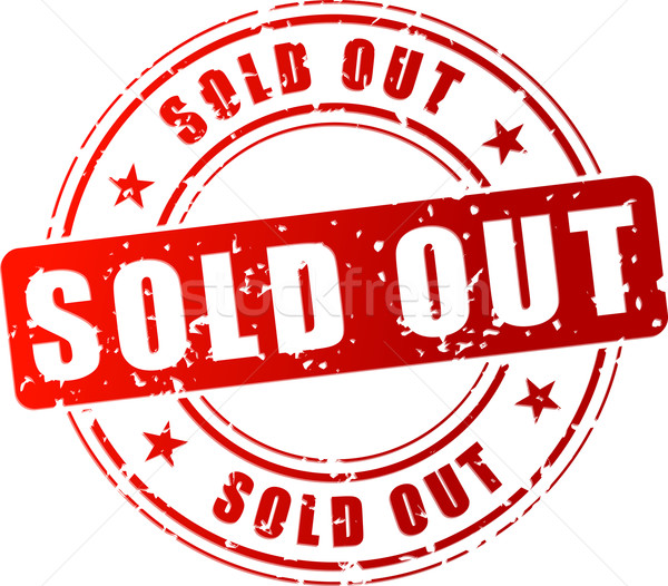 Vector sold out stamp Stock photo © nickylarson974