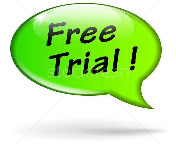 Vector free trial speech bubble Stock photo © nickylarson974