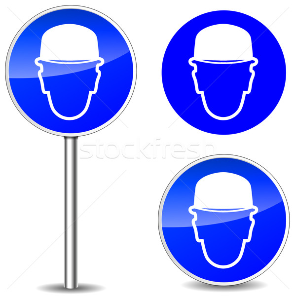 Vector helmet signs Stock photo © nickylarson974