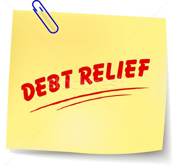 Vettore debito sollievo messaggio carta bianco Foto d'archivio © nickylarson974