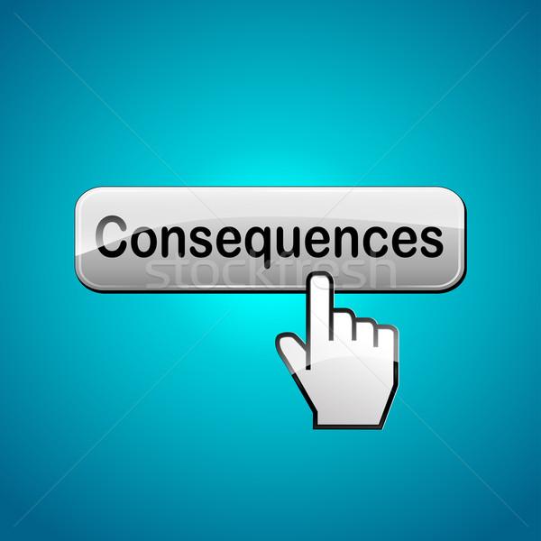 Vector consecuencias botón ordenador resumen Foto stock © nickylarson974