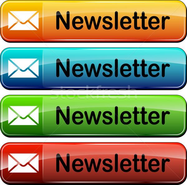 Boletim informativo teia botões ilustração cores Foto stock © nickylarson974