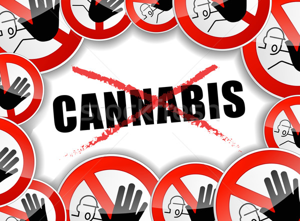 no cannabis concept background Stock photo © nickylarson974