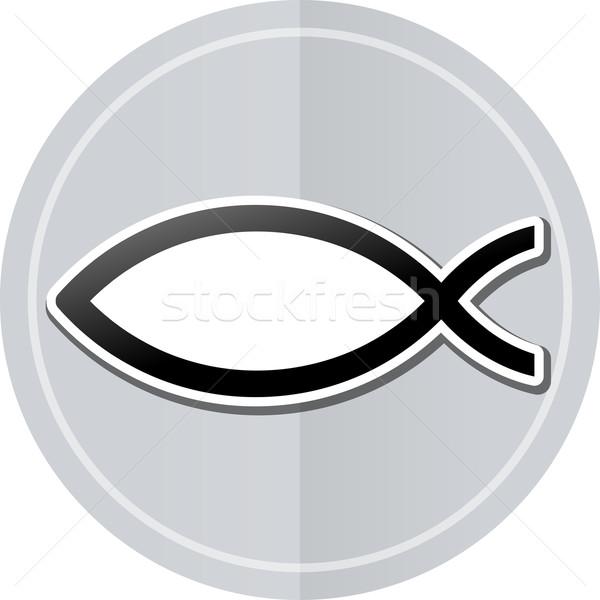 Иисус наклейку икона иллюстрация простой дизайна Сток-фото © nickylarson974