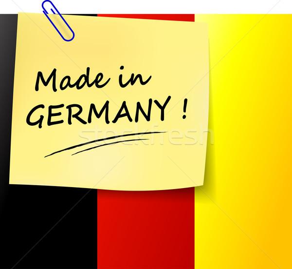 Германия иллюстрация бумаги знак Сток-фото © nickylarson974