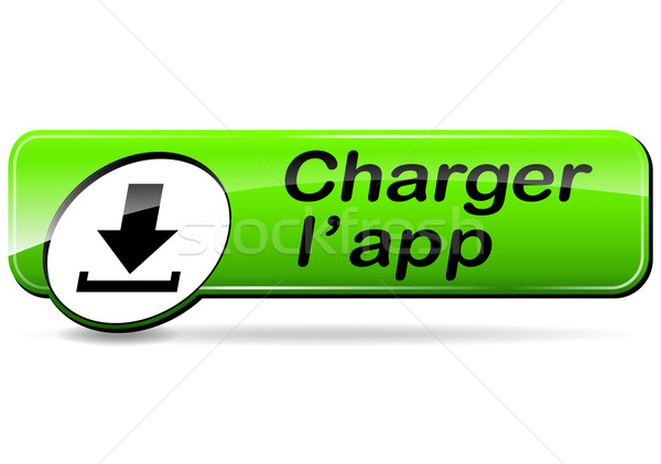 Charger app bouton français traduction Photo stock © nickylarson974