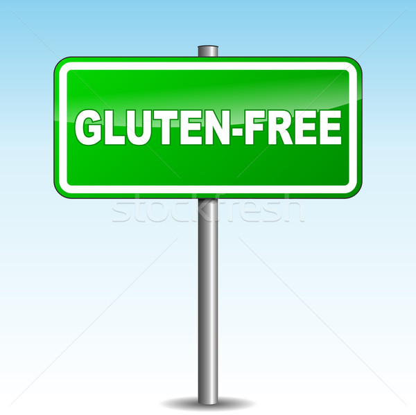 Vector gluten-free signpost Stock photo © nickylarson974
