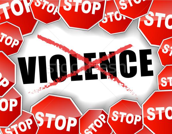 Arrêter violence résumé route femmes enfant Photo stock © nickylarson974