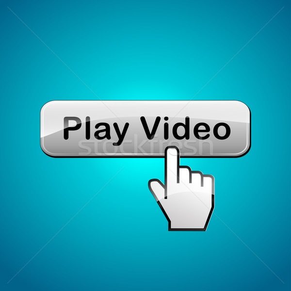 Vector video button concept Stock photo © nickylarson974