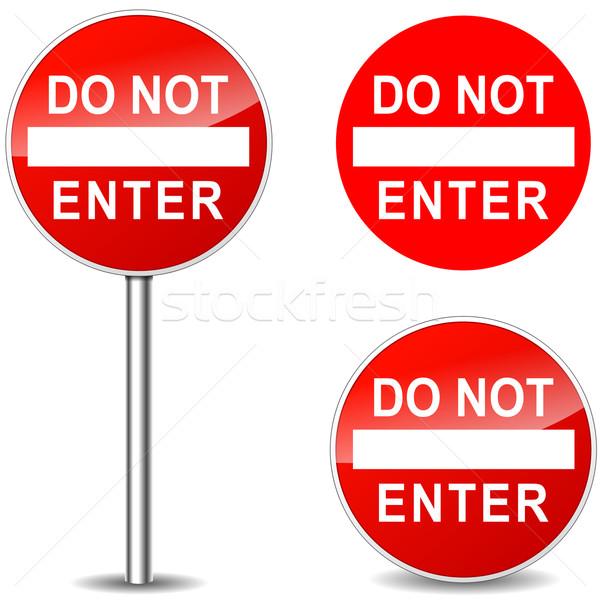 Vector do not enter signs Stock photo © nickylarson974