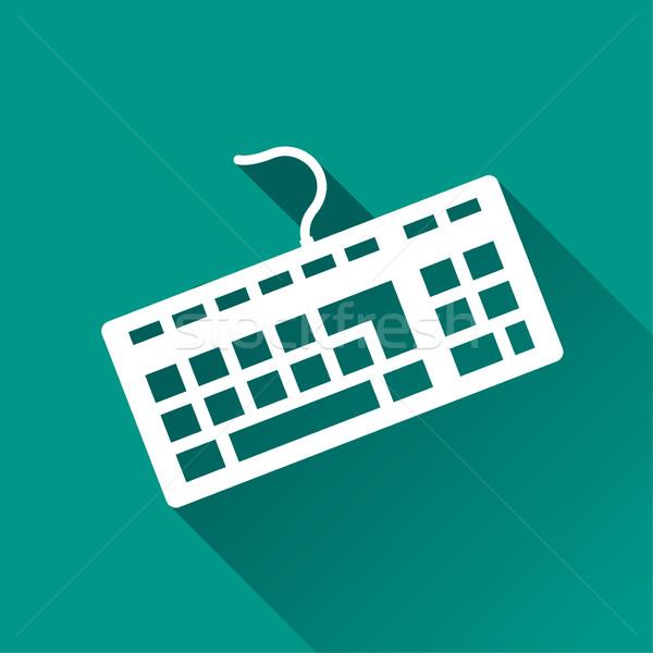 Billentyűzet ikon terv illusztráció árnyék számítógép Stock fotó © nickylarson974