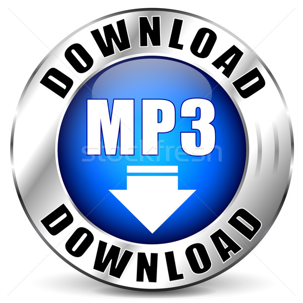 Vector mp3 chrome icon Stock photo © nickylarson974