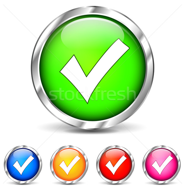 checkmark icons Stock photo © nickylarson974