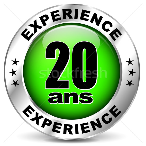 twenty years experience icon Stock photo © nickylarson974