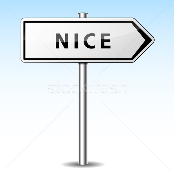 Vector nice directional sign Stock photo © nickylarson974