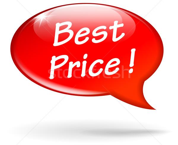 Vector best price speech bubble Stock photo © nickylarson974