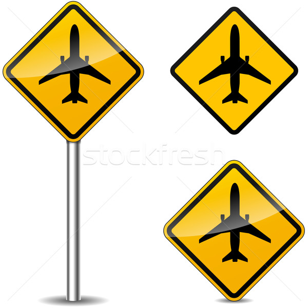 Stock photo: Vector airplane sign