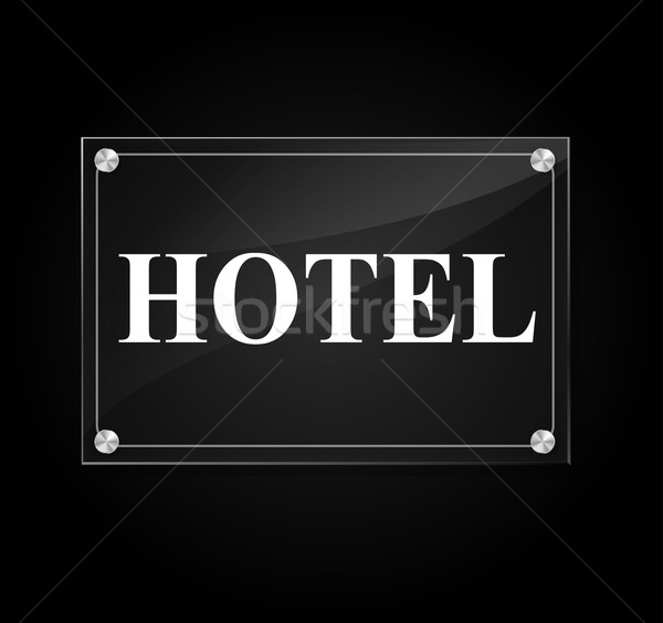Vector hotel sign Stock photo © nickylarson974