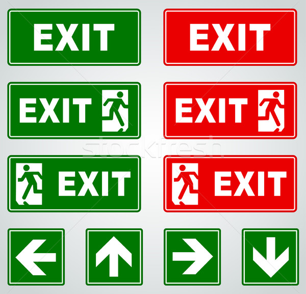 終了する 標識 実例 赤 緑 ベクトル ストックフォト © nickylarson974
