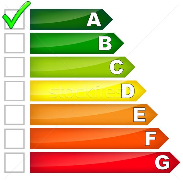 Energia fogyasztás felirat fehér papír ház Stock fotó © nickylarson974