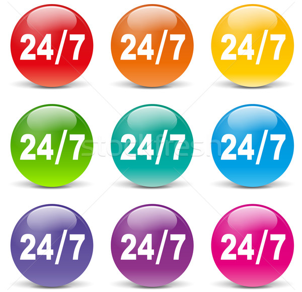 twenty four hours access icons Stock photo © nickylarson974