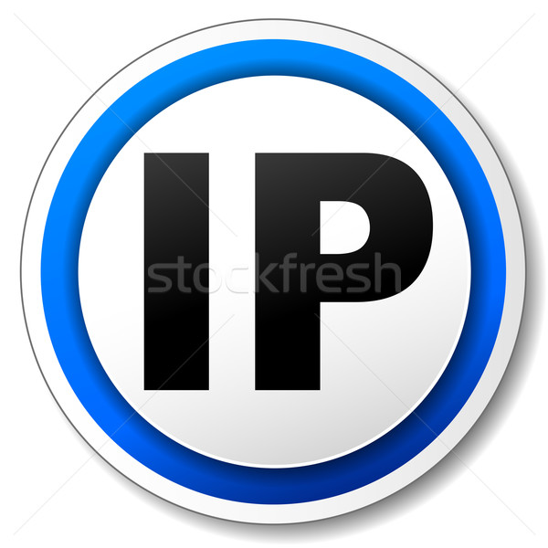 Vector ip icon zwarte Blauw internet Stockfoto © nickylarson974