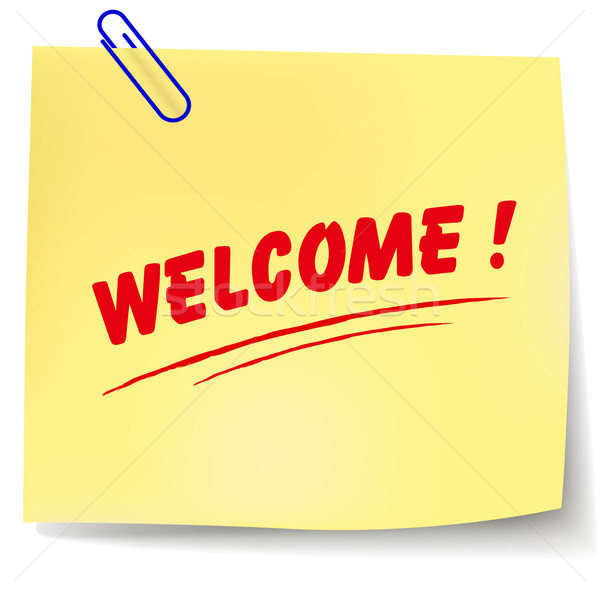 Vector welcome note Stock photo © nickylarson974