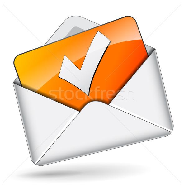 Vector checkmark mail concept Stock photo © nickylarson974