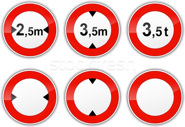 set round signs Stock photo © nickylarson974