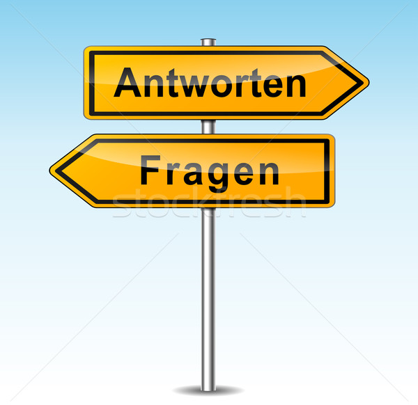 reply and ask signs (german translation) Stock photo © nickylarson974