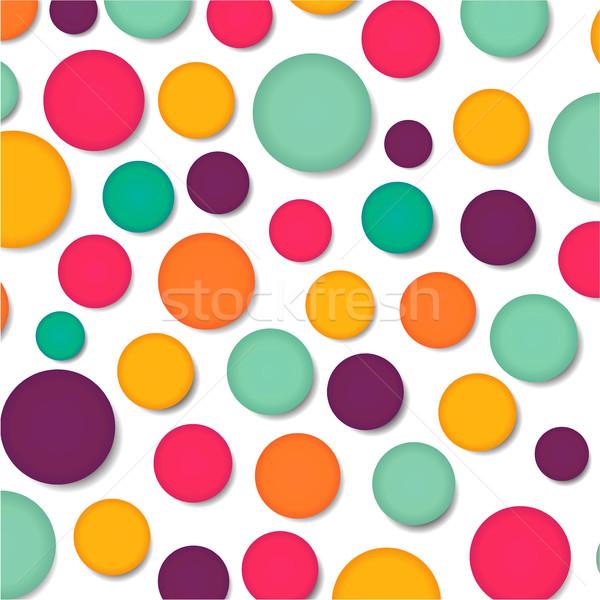Vidámság illusztráció színes terv textúra tavasz Stock fotó © nickylarson974