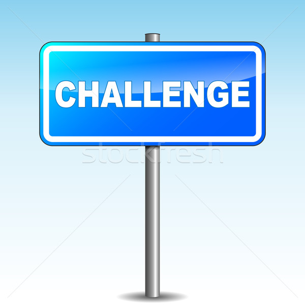 Stock photo: Vector challenge signpost