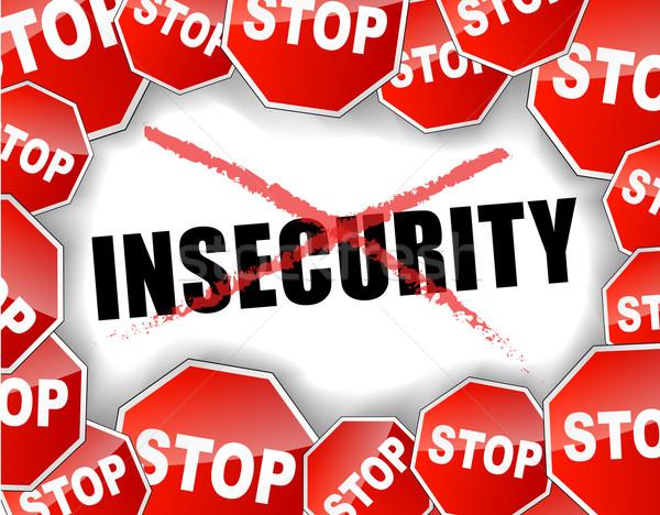 Stop insecurity Stock photo © nickylarson974