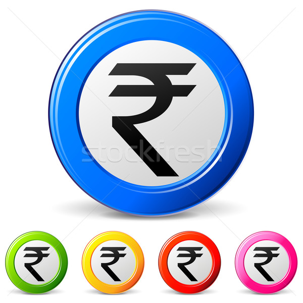 rupee icons Stock photo © nickylarson974