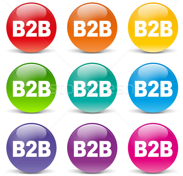 Vector b2b icons Stock photo © nickylarson974