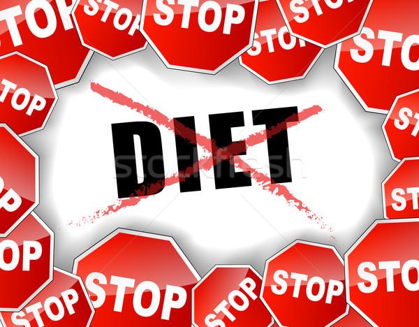 Stop diet concept Stock photo © nickylarson974
