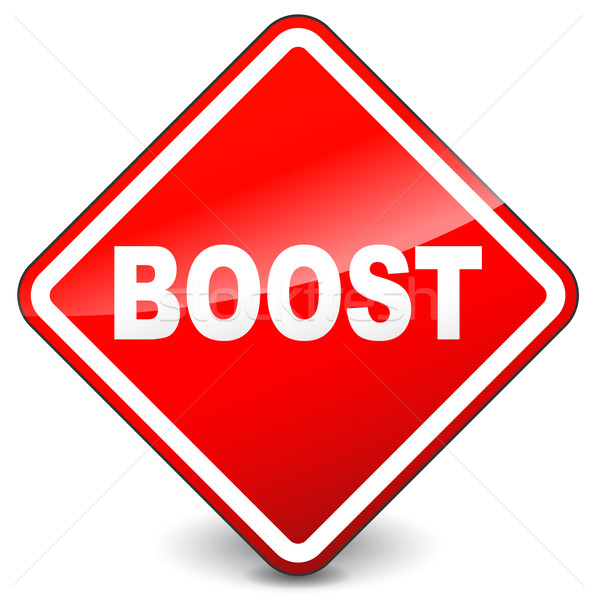 Red boost sign Stock photo © nickylarson974